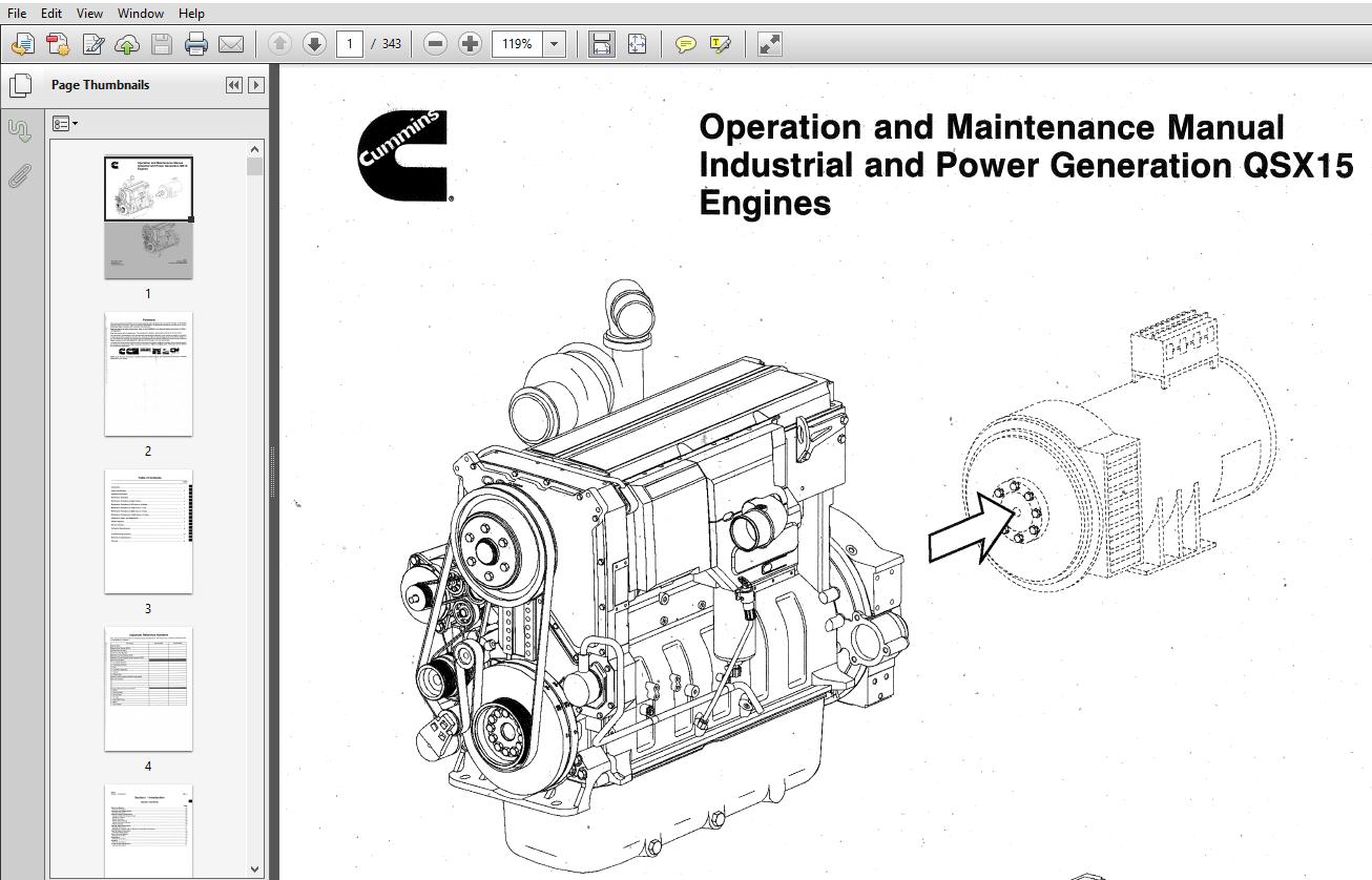 Cummins QSX15 Engines Series Operation and Maintenance