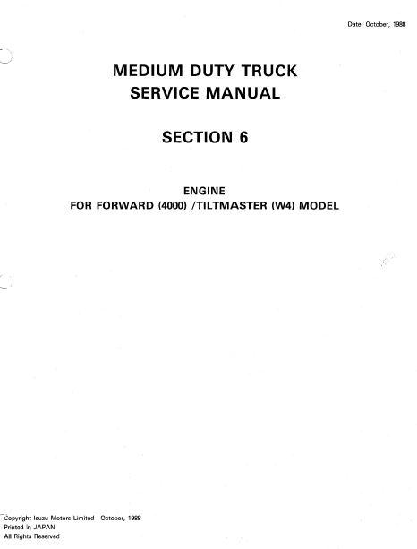 Isuzu 6wa1 engine manual free