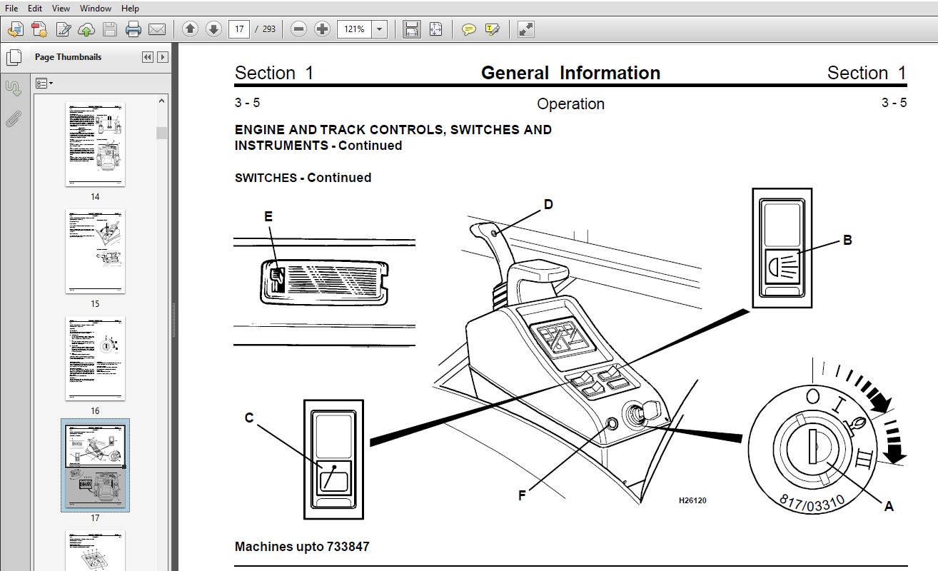 JCB 802, 802.4, 802 Super Mini Excavator Service Manual
