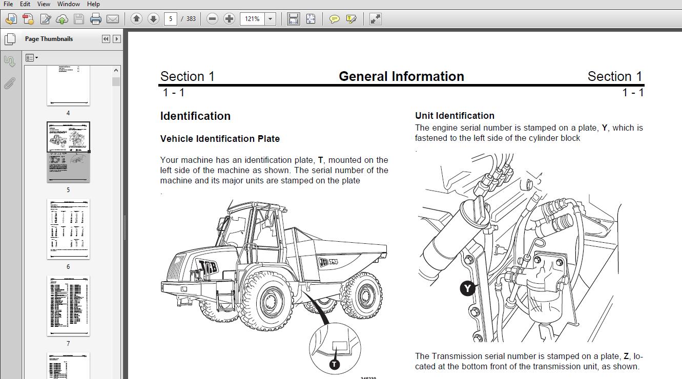 Software Part Number # 9803/7160 Jcb 714 & 718 Articulated Dump ...
