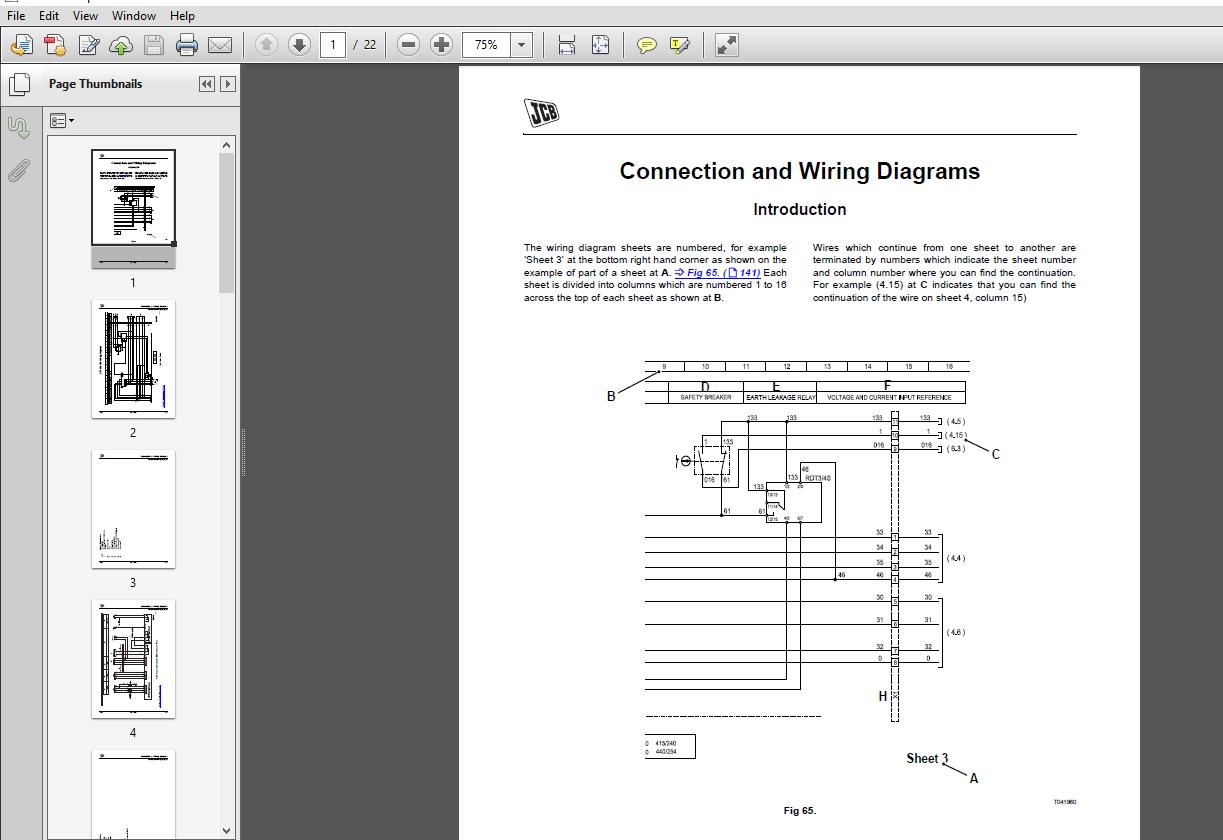 Jcb Mobile Platform G275qx  G330qx  G4000qx  G4400qx  G500qx  G5500qx  G6000qx Wiring Diagram