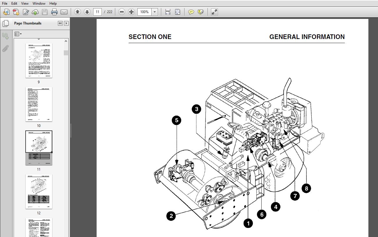 JCB Vibromax 1103 Single Drum Roller Service Repair Manual