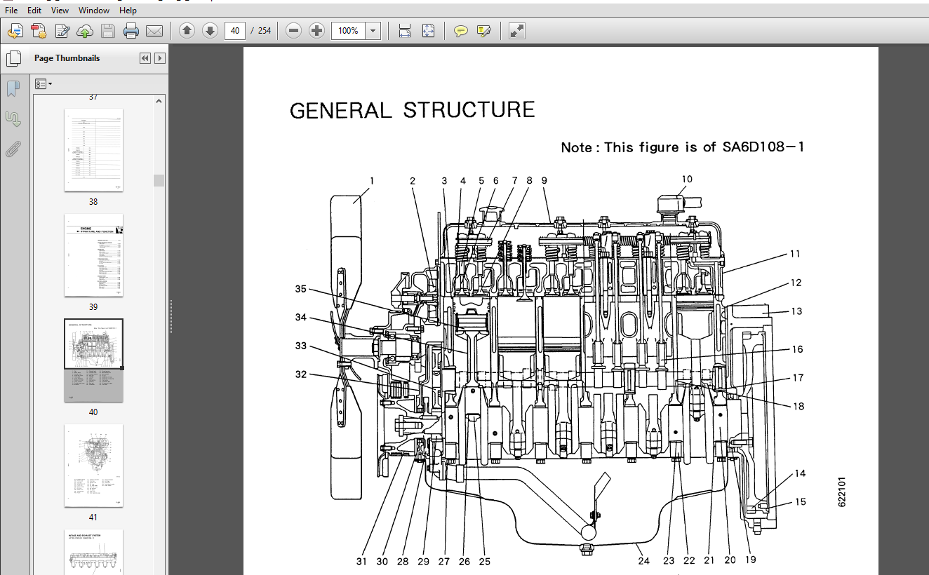 Komatsu 108 Series Diesel Engine Service Repair Manual