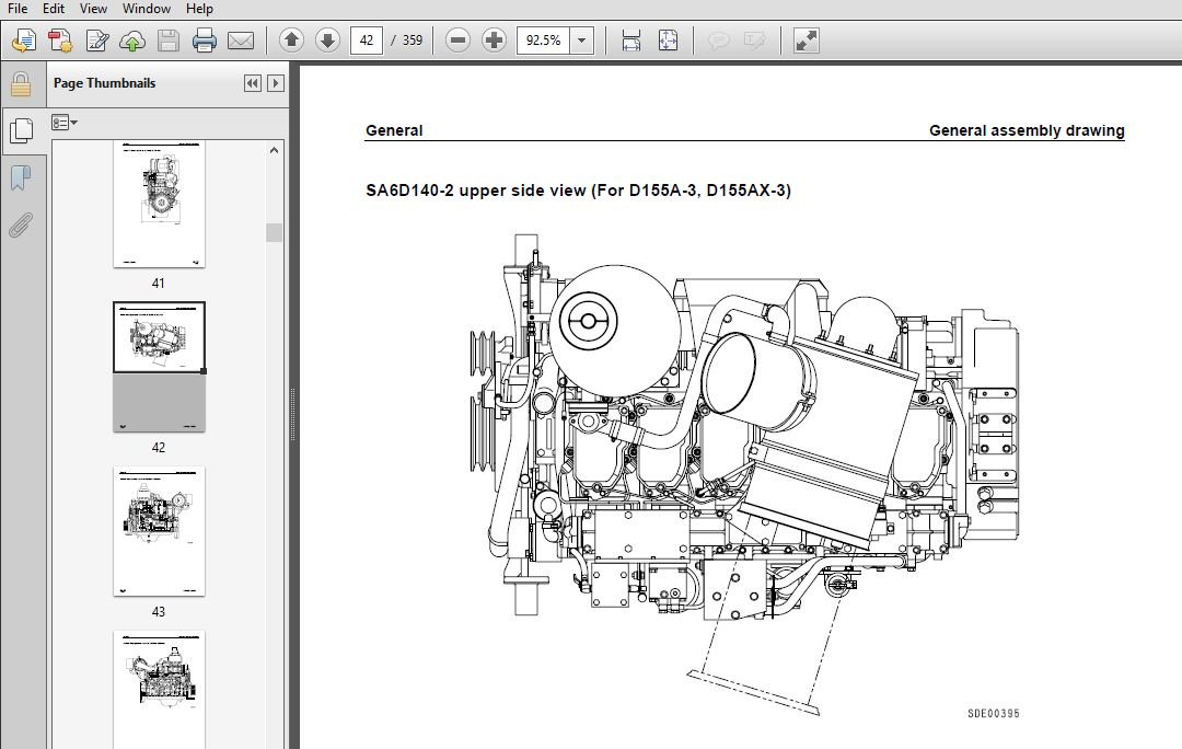 KOMATSU 6D140-2 SERIES DIESEL ENGINE SERVICE REPAIR MANUAL