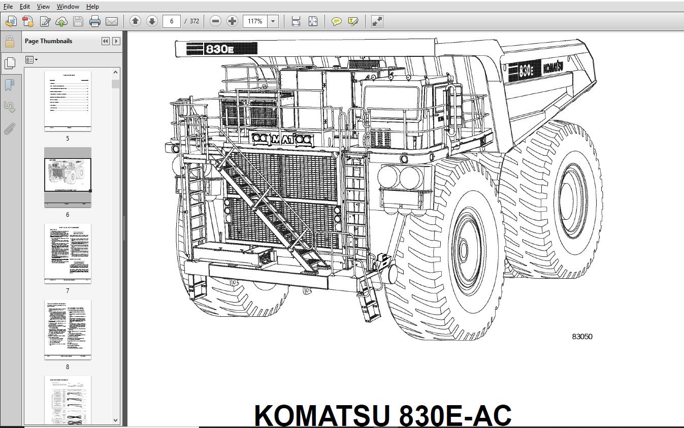 KOMATSU 830E-1AC DUMP TRUCK Field Assembly Manual
