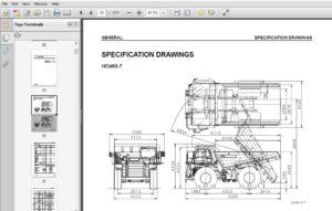 KOMATSU HD465-7,HD605-7 Rigid Dump Truck Service Repair