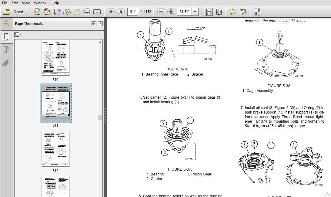KOMATSU HD785-5LC DUMP TRUCK SERVICE REPAIR MANUAL (SN