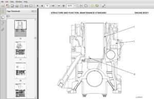 Komatsu 125-3 Series Diesel Engine Shop Manual SEBM024208