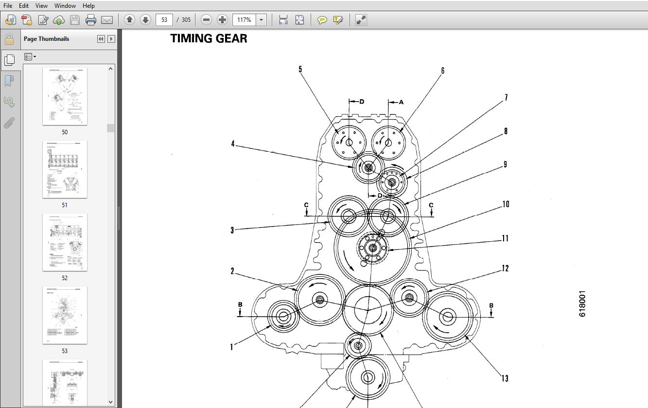 Komatsu 12V170-1 Diesel Engine Shop Manual SEBE61800104