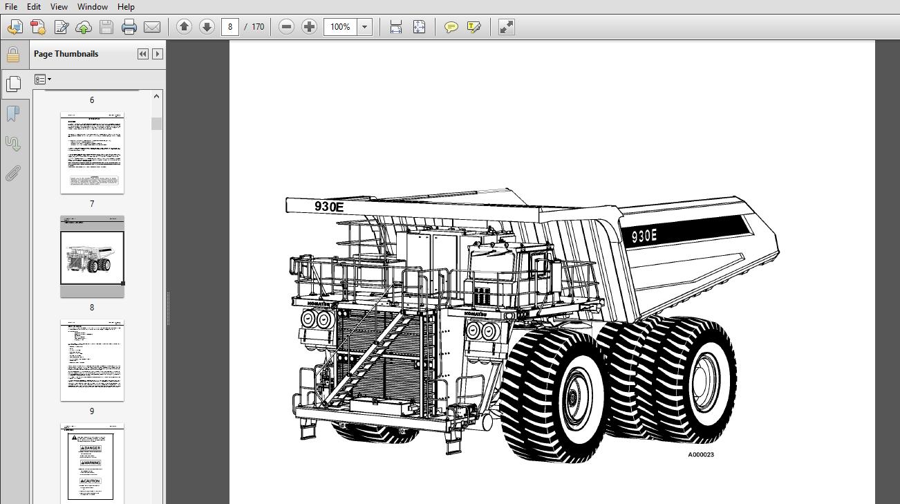 Komatsu 930E-3 Dump Truck Operation & Maintenance Manual