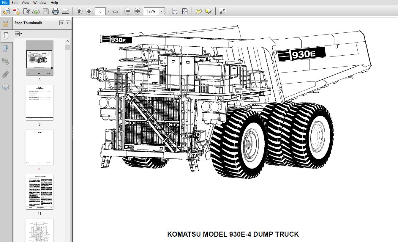 [DIAGRAM] Komatsu 930e 3 Dump Truck Service Shop Repair