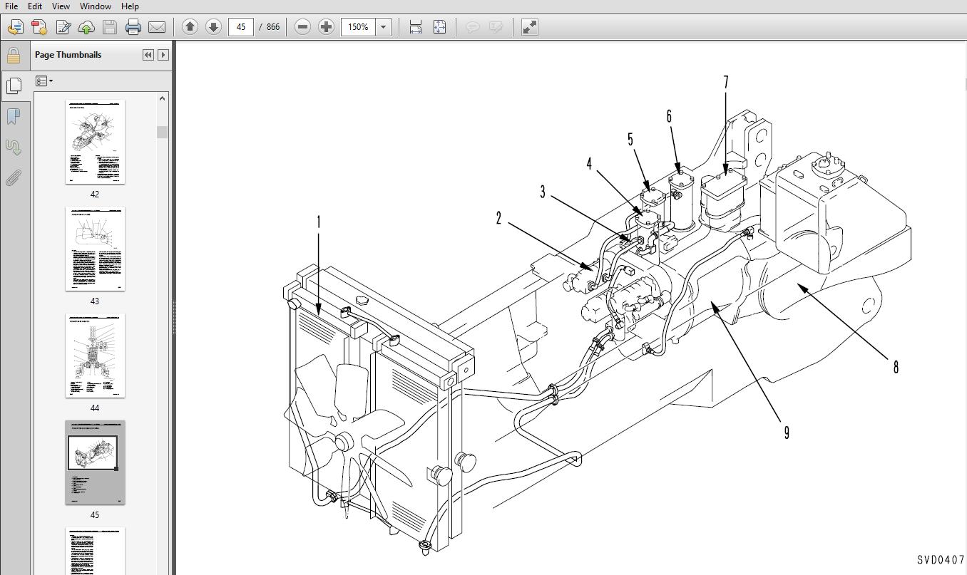 Komatsu D575A-3 Super Dozer 10101 and up Crawler Bulldozer