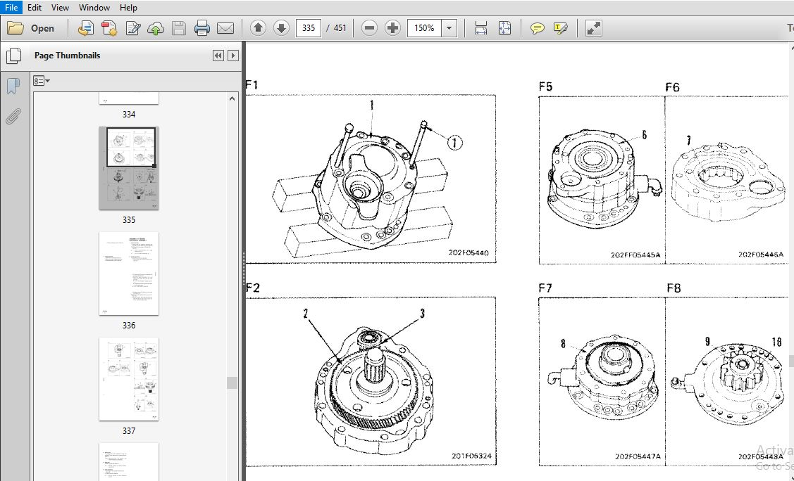 Komatsu PC60-6, PC60L-6, PC90-1 Excavator Shop Manual SN