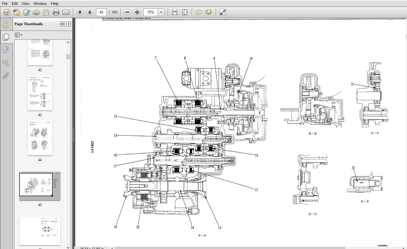 Komatsu WA320-3 Avance Loader Wheel Loader Shop Manual