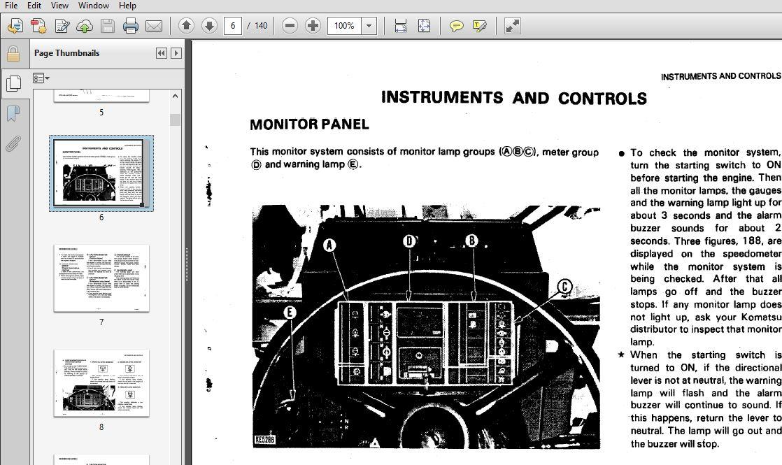 Komatsu WA380-1 Wheel Loader Operation & Maintenance