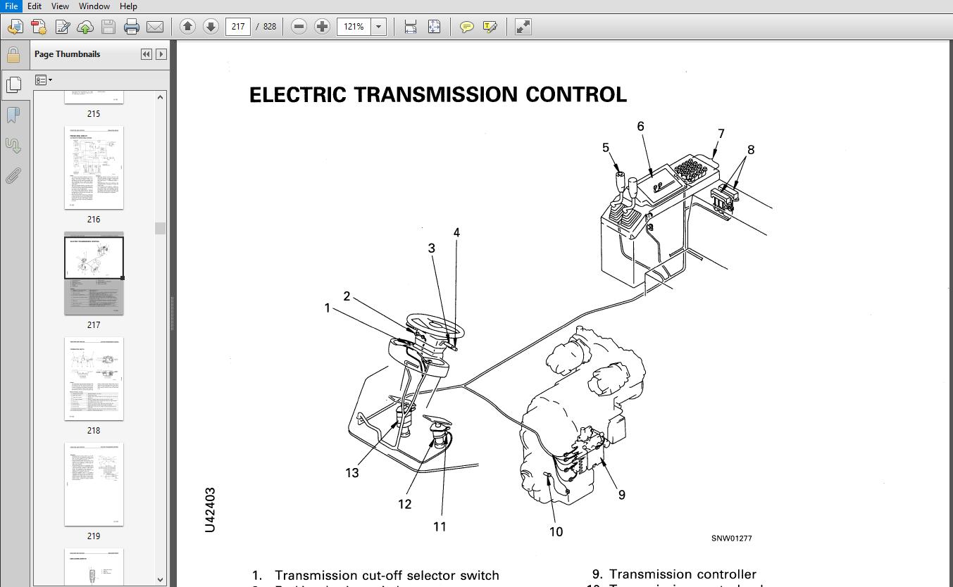 Komatsu WA420-3 Avance Loader Wheel Loader Shop Manual