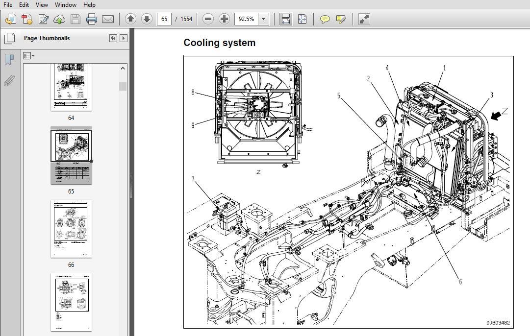 Komatsu WA470-6, WA480-6 Wheel Loader Shop Manual