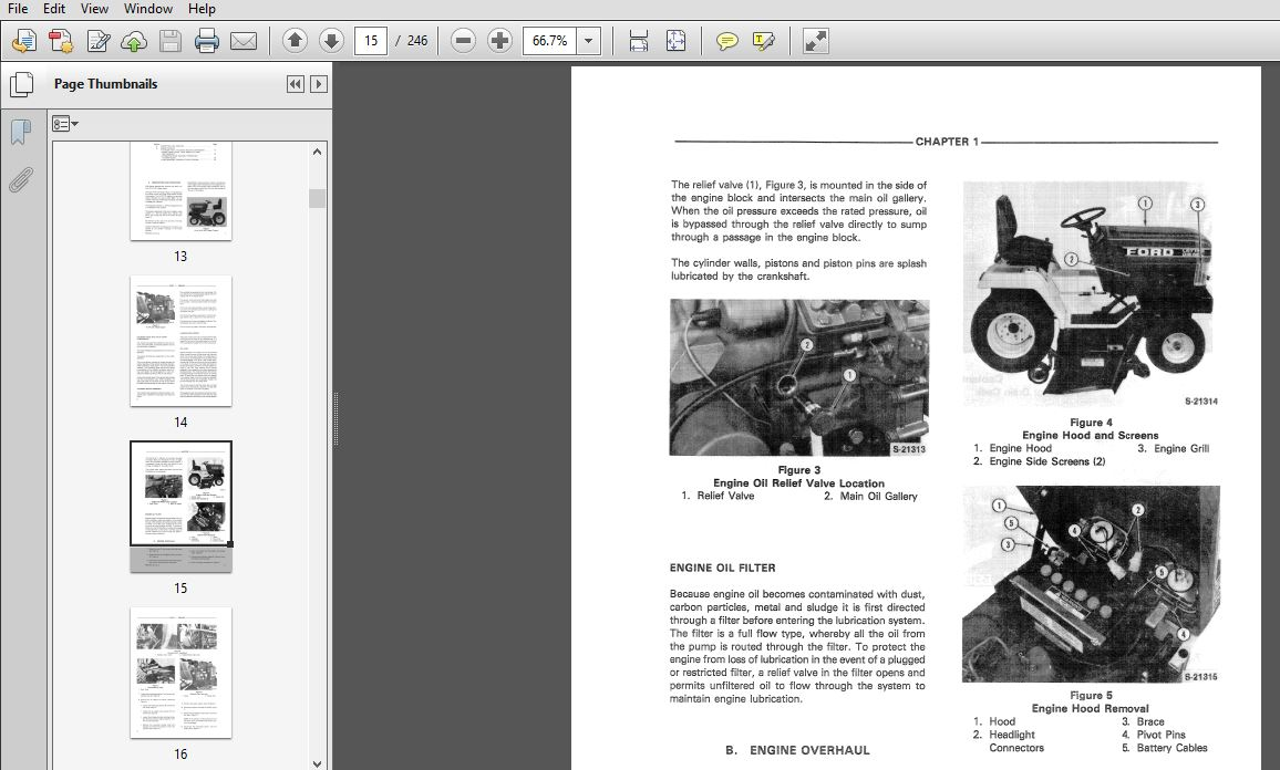 Tractors Ford 14D Lawn and Garden Tractor Service Manual Patio ...