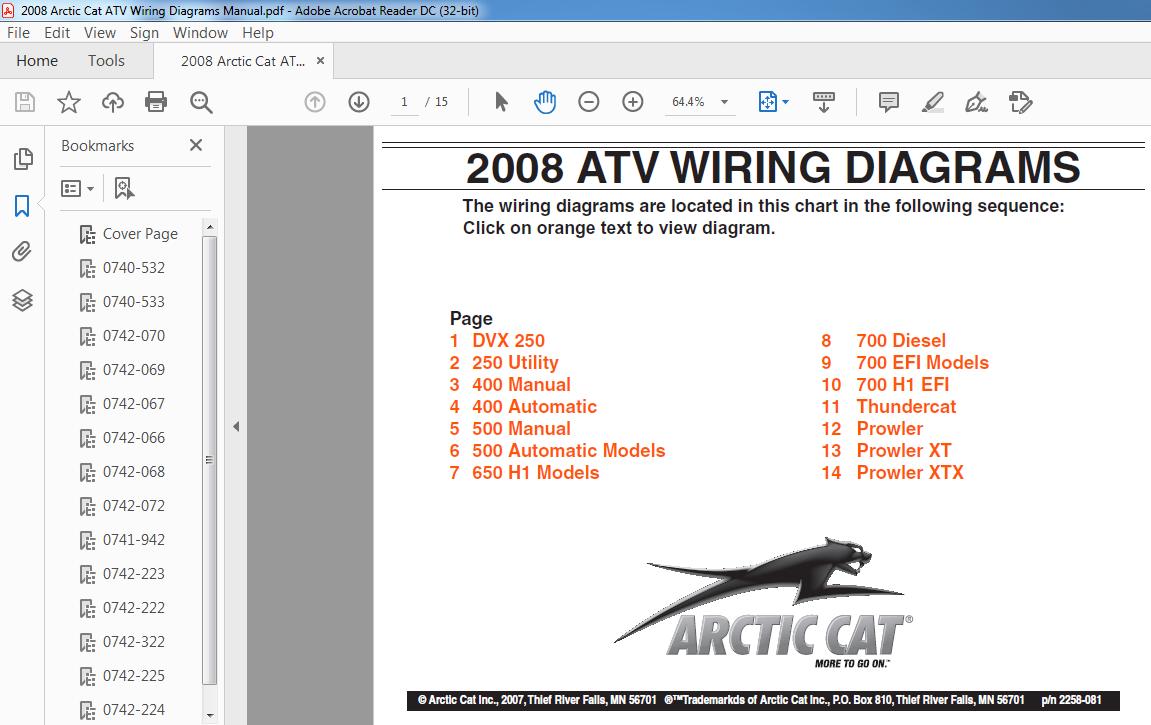 2008 Arctic Cat ATV Wiring Diagrams Manual - PDF DOWNLOAD ~ HeyDownloads -  Manual Downloads | 2008 Arctic Cat Wiring Diagram |  | HeyDownloads