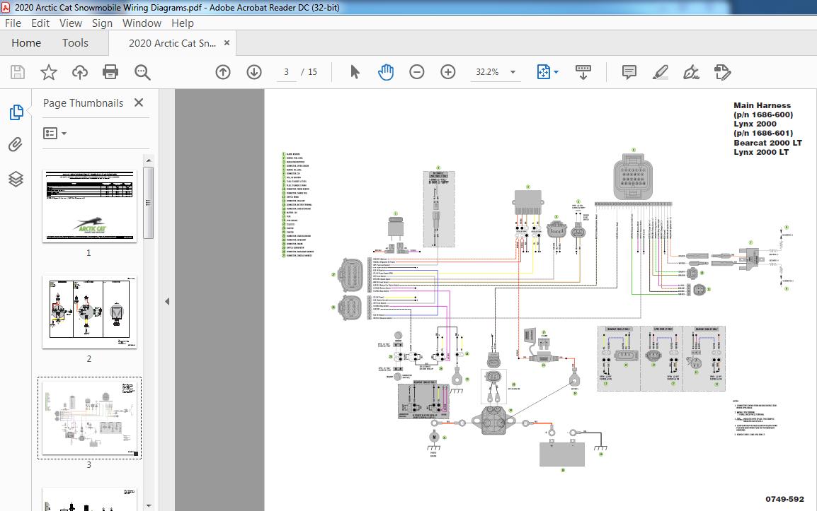 2020 Arctic Cat Snowmobile Wiring Diagrams Manual - PDF DOWNLOAD ~  HeyDownloads - Manual DownloadsHeyDownloads