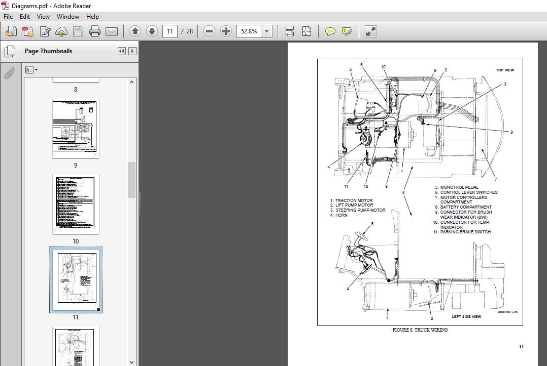 Hyster E25 35XM, E40XMS service manual - PDF DOWNLOAD ~ HeyDownloads -  Manual Downloads | Hyster Monitor Wiring Diagram |  | HeyDownloads