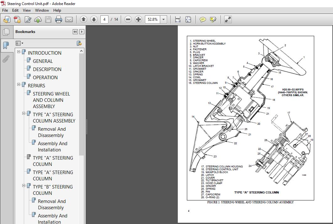 Hyster Forklift J25A, J30AS, J35A service manual - PDF DOWNLOAD ~  HeyDownloads - Manual Downloads   Hyster 100 Wiring Diagram      HeyDownloads