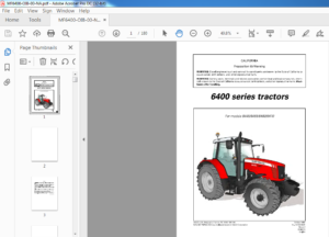 Massey Ferguson Eu Tractor 6400 Series 6445 6455 6460 6470 Operators Manual Pdf Download Heydownloads Manual Downloads